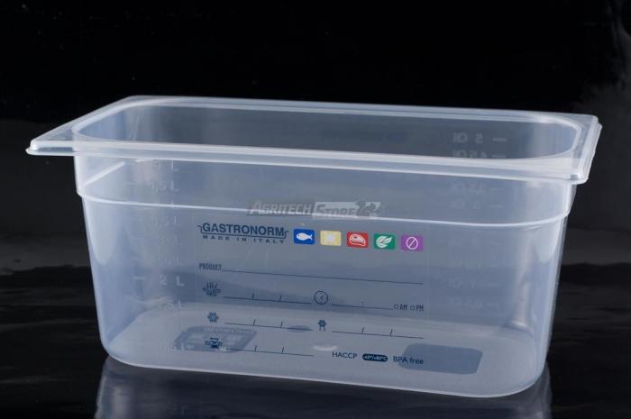 Contenitore Gastronorm 1/2 H 100 polipropilene HACCP