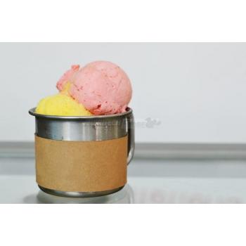 "Coppa gelato ""ice"" in acciaio inox Ø75 mm h60 finitura sabbiata"