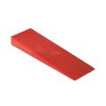 Cuneo abbattimento in plastica 140 mm rosso