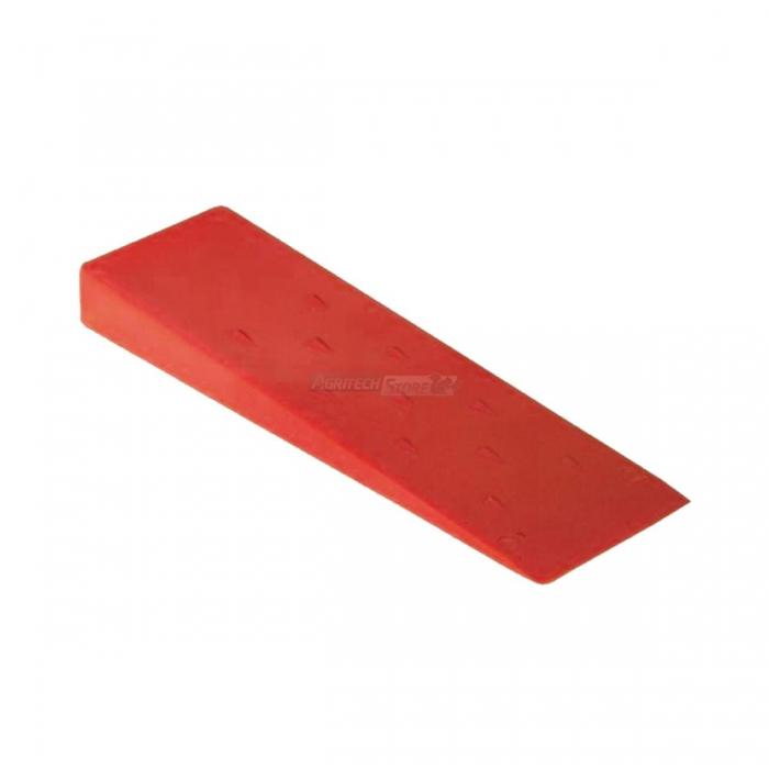 Cuneo abbattimento in plastica 250 mm rosso