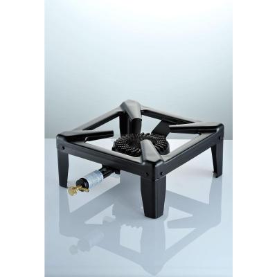 Fornellone a Gas nero da esterno con termocoppia e pilota