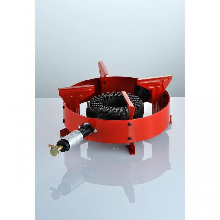 Fornellone a Gas Rosso da esterno con termocopia e pilota