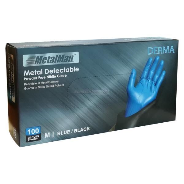 Guanto In Nitrile Detectabile senza polvere Derma Metal Man