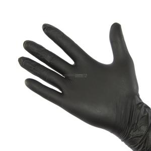 Guanti sintetici elasticizzati colore nero monouso 100 pz.