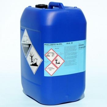 Ipoclorito di sodio 14/15 vol. in tanica da 25 kg