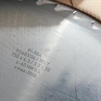 Lama sega circolare al Widia Diametro 750 mm