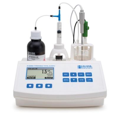 Minititolatore per l'analisi dell'acidità totale nel vino - HI84502