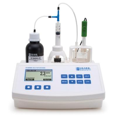 Minititolatore per l'analisi di anidride solforosa nel vino - HI84500