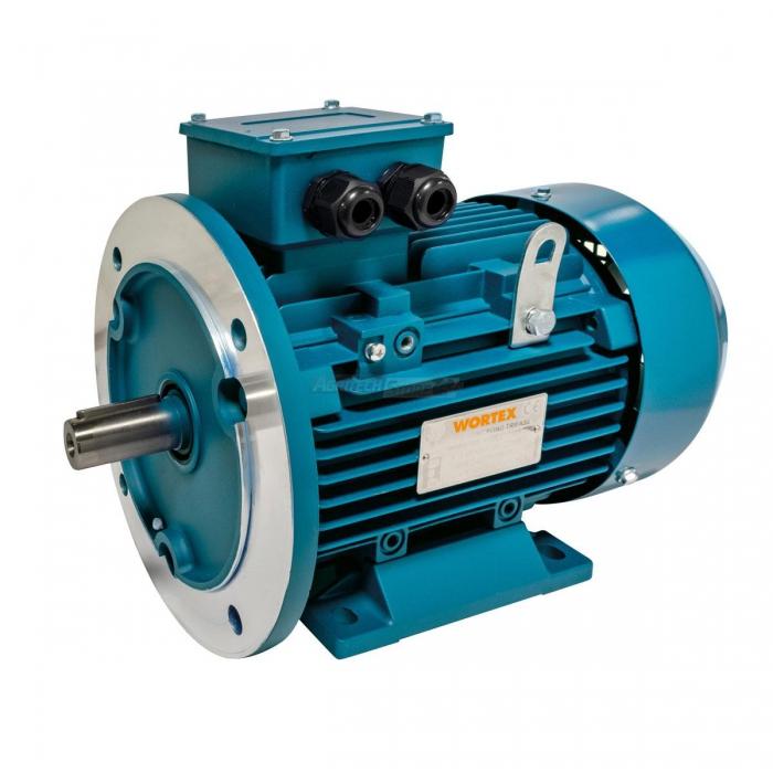 Motore elettrico monofase alluminio con base con flangia