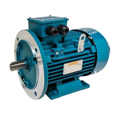 Motore elettrico trifase alluminio con base con flangia
