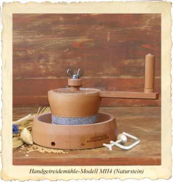 Mulino Macinacereali Manuale a Pietra Naturale di Granito MH4