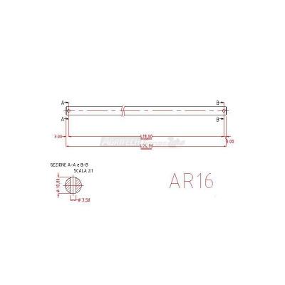 Perno-Albero porta coltelli per Arieggiatori Agrinova
