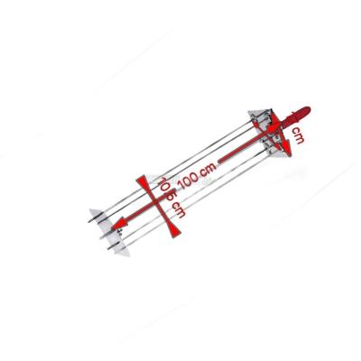 Raggiera satellitare per girarrosto 4 Lance 100 cm. 0546B+Asta