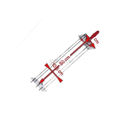 Raggiera satellitare per girarrosto 4 Lance 50 cm. completa di Asta