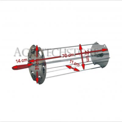 Raggiera satellitare per girarrosto 70 cm. 0531+Asta