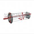 Raggiera satellitare per girarrosto cm. 120 Art.561+Asta