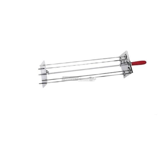 Offerte pazze Comparatore prezzi  Raggiera Satellitare Per Girarrosto 4 Lance 50 Cm Completa Di Asta  il miglior prezzo