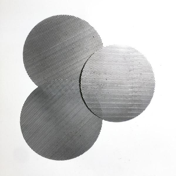 Serie di 3 dischi in acciaio per fermafiltro in cotone per Olio