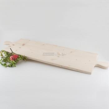 Tagliere rettangolare 2 manici in Legno di Abete cm. 30x80