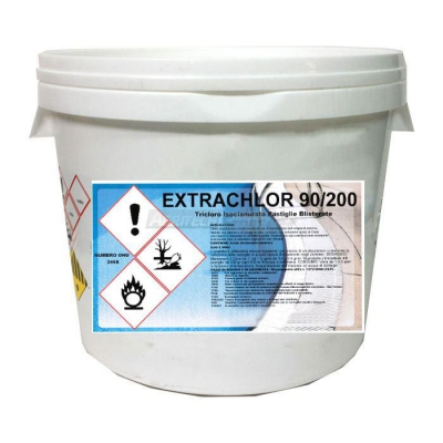 Trichloro 85-90% in pastiglie da 200 gr.