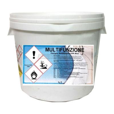 Tricloro multifunzione in pastiglie da 200 gr.