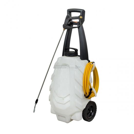 Trolley Con Pompa Elettrica Da Irrorazione E Diserbo 18 V 22 Ah Litri